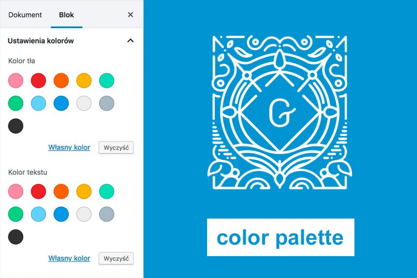 WordPress Gutenberg Color Palette