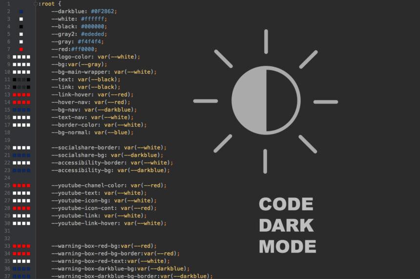 dark-mode-code